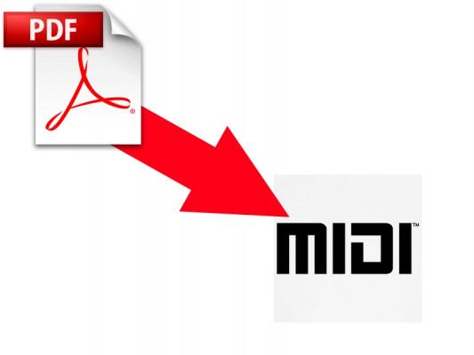 transformer votre partition pdf en fichier MIDI