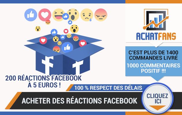 vous permettre d'acheter des réactions facebook