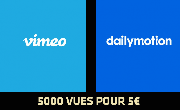 envoyer 5.000 vues sur vos vidéos Vimeo ou Dailymotion