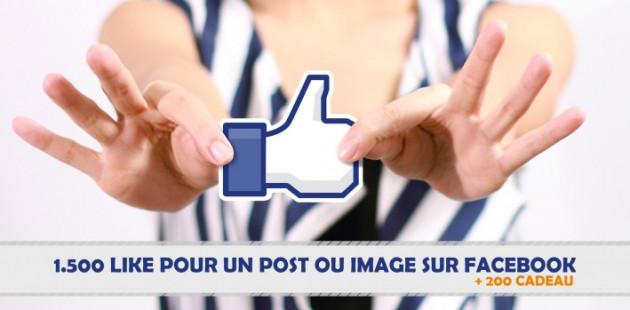 vous ramener 3500 Likes pour vos statuts et images sur Facebook