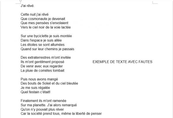 corriger un texte de 5 000 mots en français