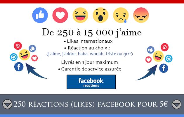ajouter 250 réactions à votre publication Facebook