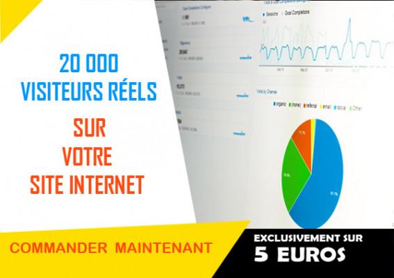 vous envoyer 20 000 visiteurs réels sur votre site internet