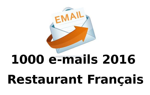 vous donner une liste de 1000 emails de restaurant français
