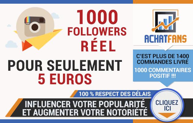 vous permettre d'acheter 1000 followers réels instagram