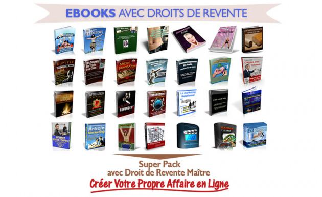 vous vendre 100 Ebooks different avec droit de revente