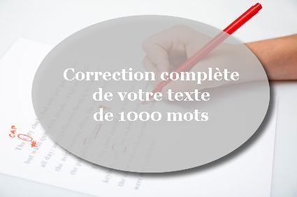 corriger entièrement votre texte de 1 000 mots