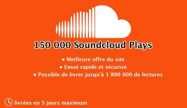 ajouter 150 000 lectures à votre musique Soundcloud