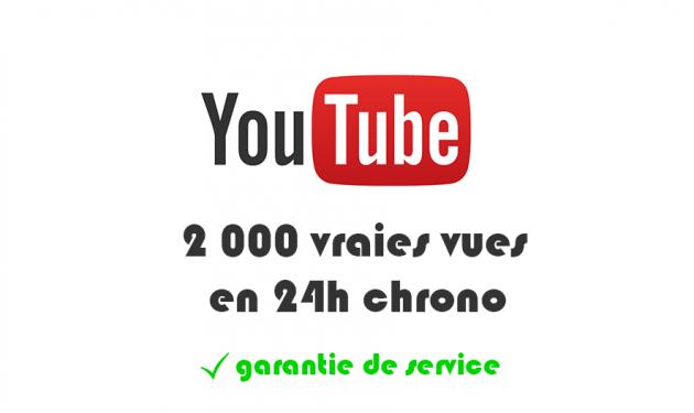 ajouter 2000 vraies vues sur votre vidéo YouTube en 24h