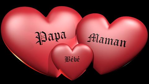 graver vos prénoms dans des coeurs