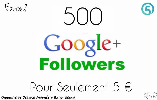 envoyer 500 followers a votre profil Google