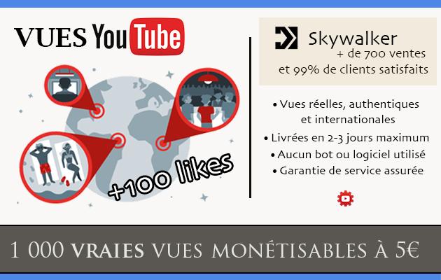 ajouter 100 j'aime et 1 000 vraies vues monétisables sur votre vidéo YouTube