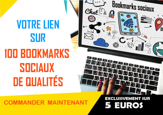 insérer votre lien sur 100 Bookmarks sociaux de qualités