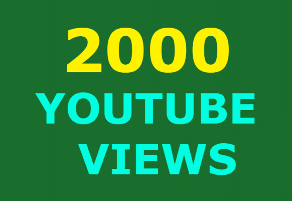 ajouter 2000 view youtube à votre video