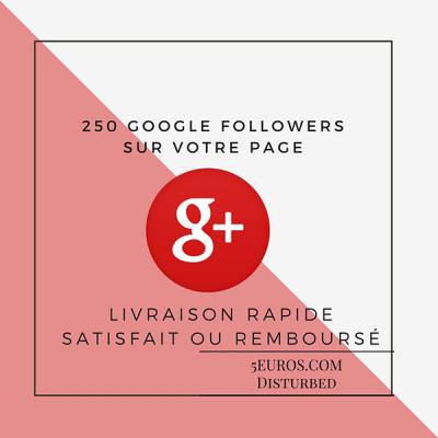 ajouter 250 Google plus Followers sur votre page