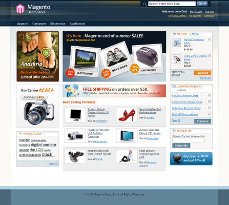 creer et développer votre boutique en ligne magento