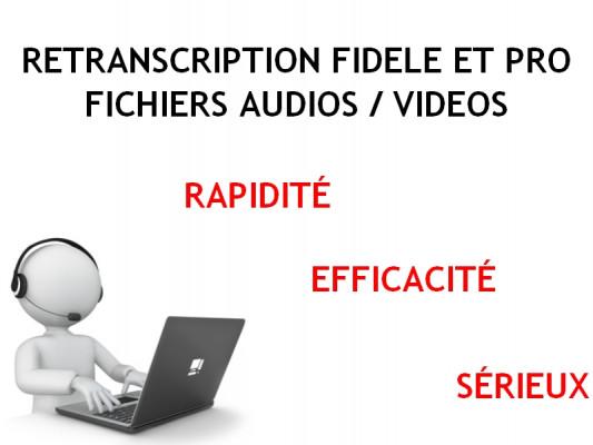 réaliser la transcription de vos documents audio et vidéo