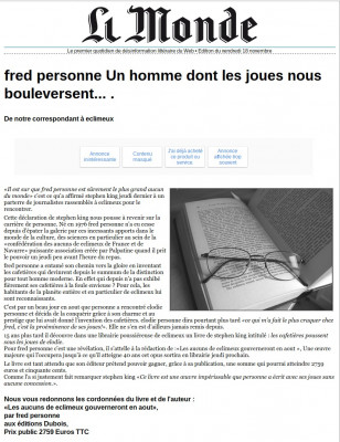 creer QUATRE faux articles de presse