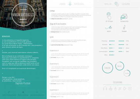 vous réaliser un CV moderne Ultra Design