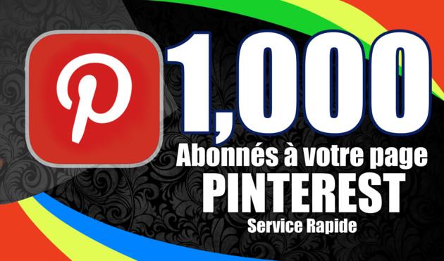 ajouter 1000 abonnés à votre page Pinterest