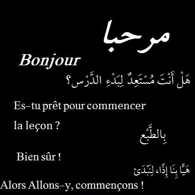 vous donner des cours d'arabe