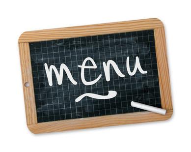 vous donner les menus pour 2 semaines