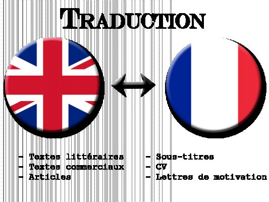 traduire des textes en tout genre entre anglais et français