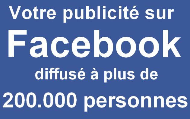 diffuser votre message sur une page Facebook de plus de 200.000 personnes