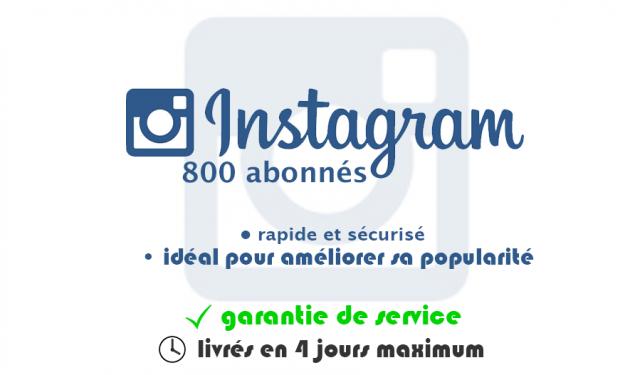 ajouter 800 vrais abonnés à votre profil Instagram