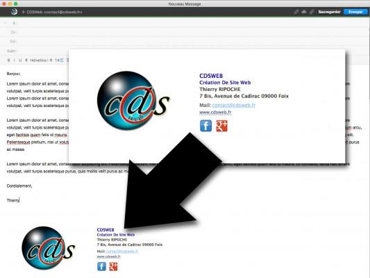 créer une signature élégante en html pour vos mails
