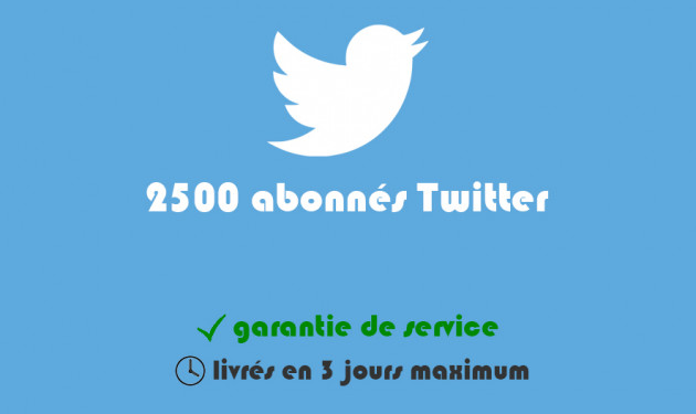 ajouter 2500 abonnés à votre profil Twitter