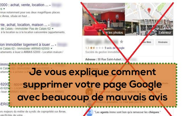 vous expliquer comment supprimer votre page google contenant des avis négatifs