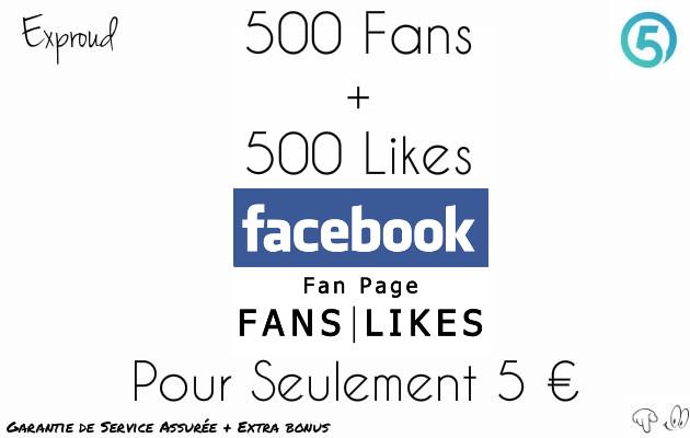 ajouter 500 likes & fans à votre page Facebook
