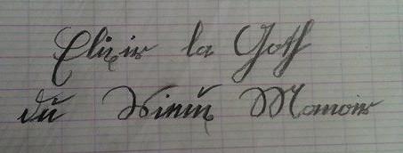 vous écrire en gothique votre nom et prénoms