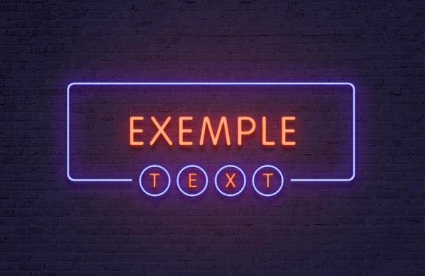 créer un texte effet néon