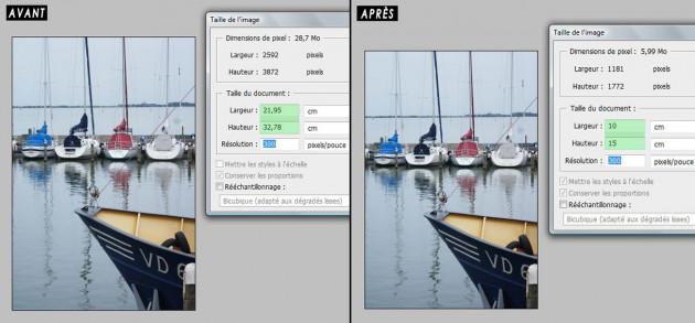redimensionner vos photos au format carte postale 10 x 15 cm