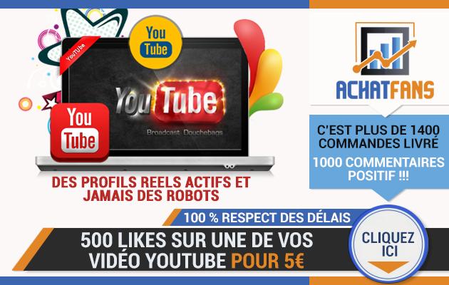 vous permettre d'acheter des likes youtube ➡️ 500 likes