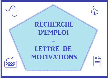 rédiger votre lettre de motivations en fonction du poste choisi