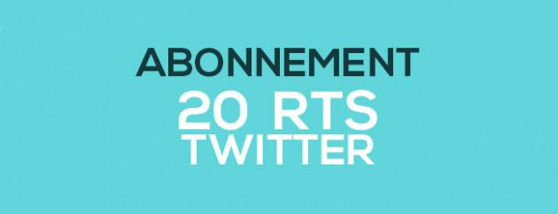 faire retweeter vos tweet par 20 personnes pendant 7 jours