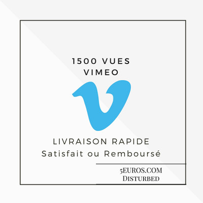 vous ajouter 1500 vues sur votre vidéo VIMEO