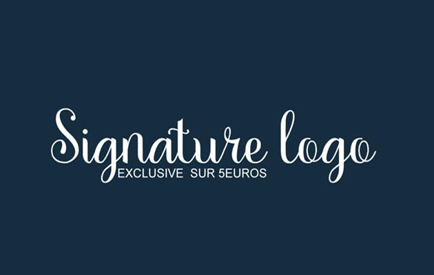 créer une signature logo