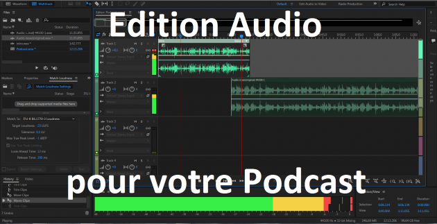 éditer votre enregistrement audio pour le montage de votre podcast