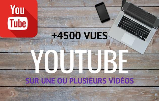vous apporter 4500 vues sur une de vos vidéos Youtube