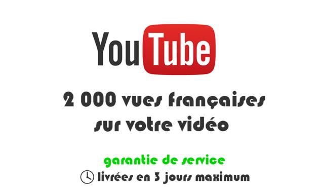 ajouter 2000 vraies vues françaises sur votre vidéo YouTube