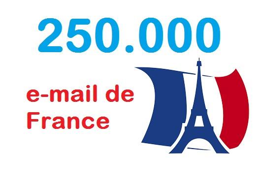 vous fournir 250 000 d'adresses  email de france