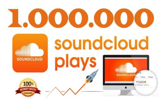 ajouter 1000 000 Plays votre musique sur SoundCloud