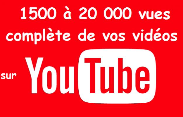 vous obtenir 1500 vues de QUALITE pour vos vidéos sur Youtube