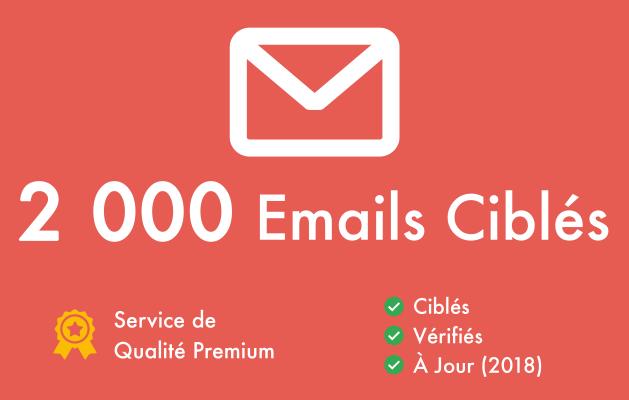 vous fournir 2000 Emails Vérifiés & Ciblés pour votre Niche