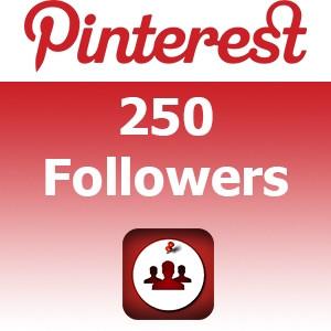 ajouter 250 abonnés à votre profil sur pinterest