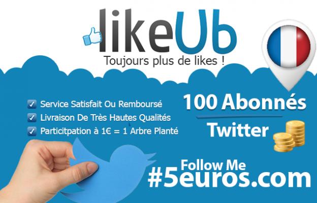 vous fournir 100 abonnés Twitter Français